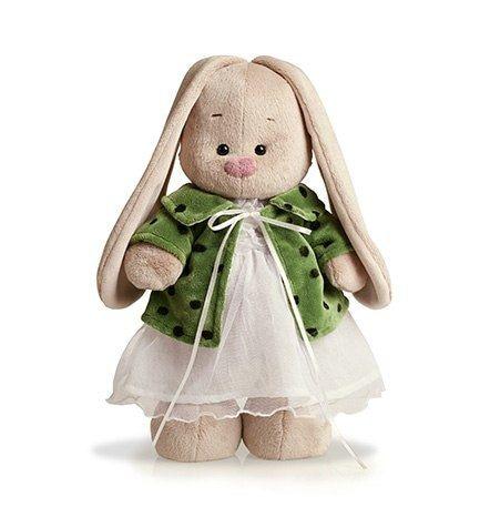 Зайка Ми в зеленом пальто и белом платье (большая) 32 см фото