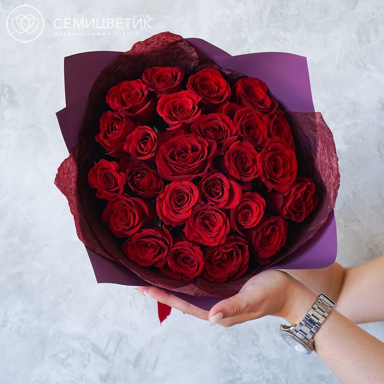 25 красных роз 40 см Premium SP фото