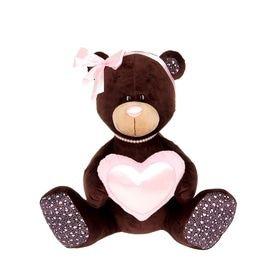 Медведь девочка Милк с сердцем 20 см фото