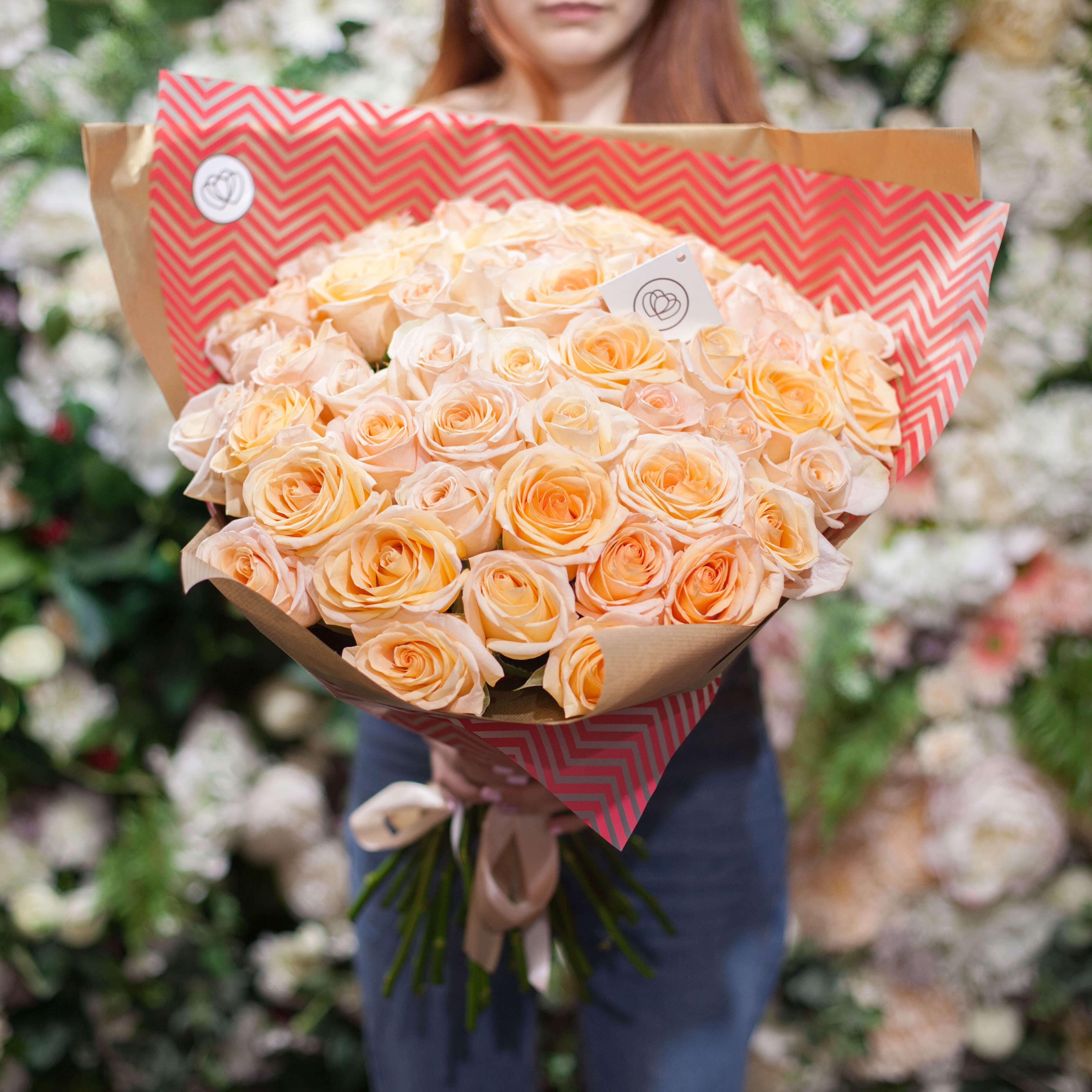 51 кремовая роза Tiffany 60 см _ фото