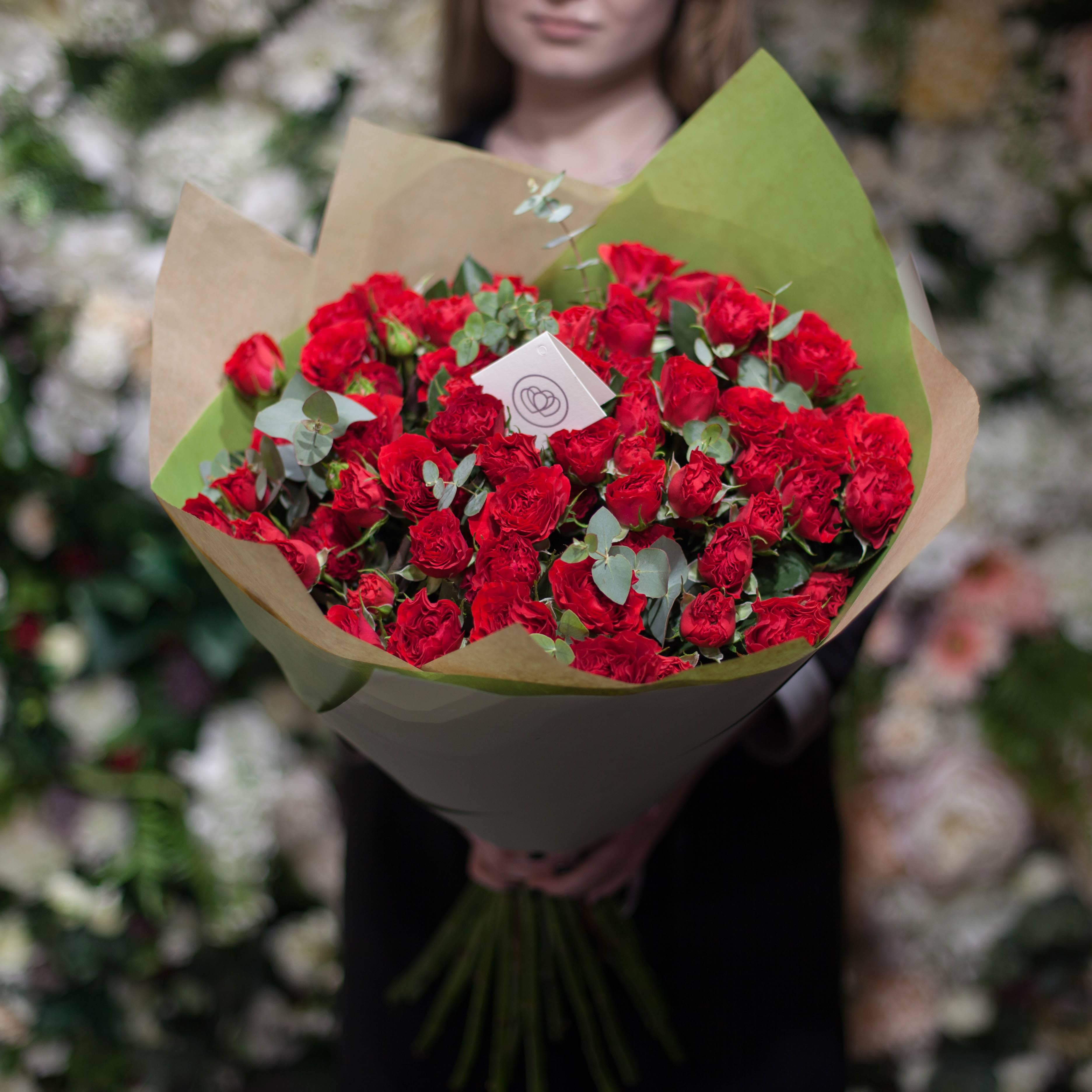 Кустовых пионовидных роз Bella Lindo Brick