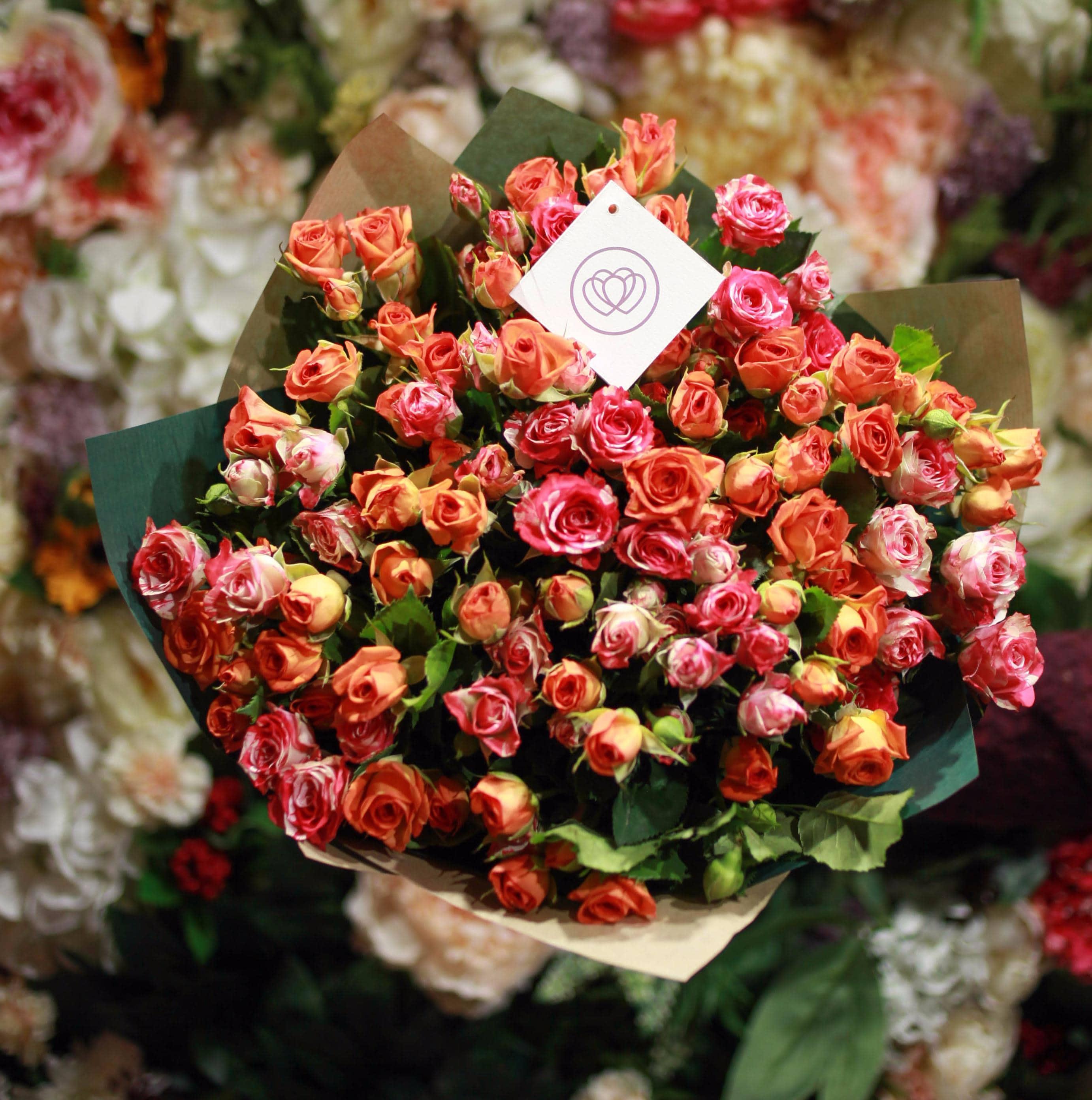 35 кустовых роз 40 см фото