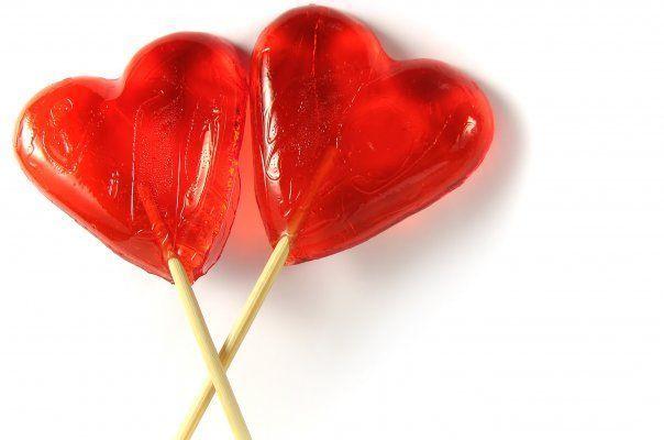 Леденцы в форме сердца 76 гр. фото
