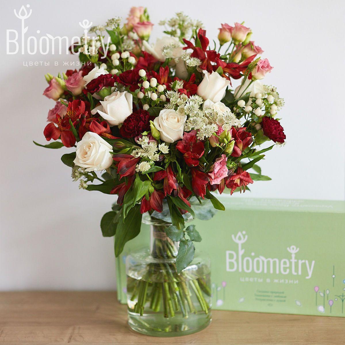 Bloometry Box «Красный бархат» фото