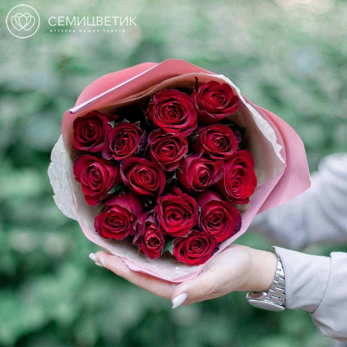 15 красных роз 40 см Premium фото
