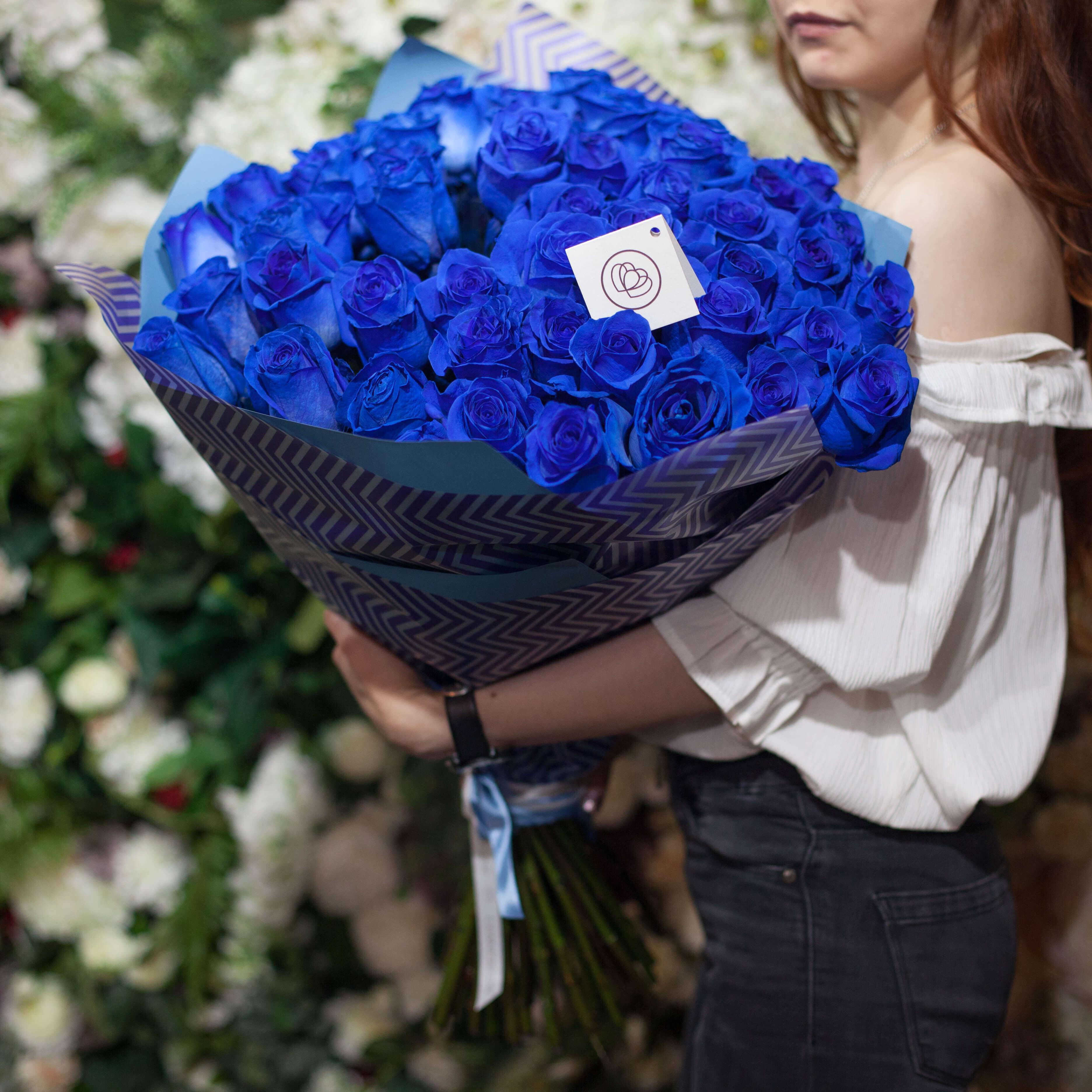 51 синяя роза фото