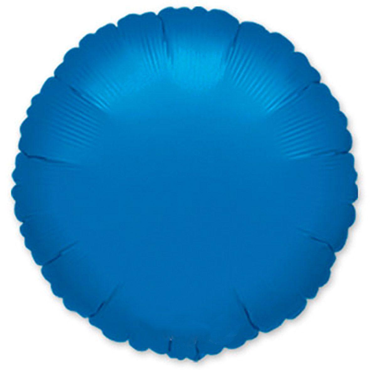 Шар металик Круг синий фото