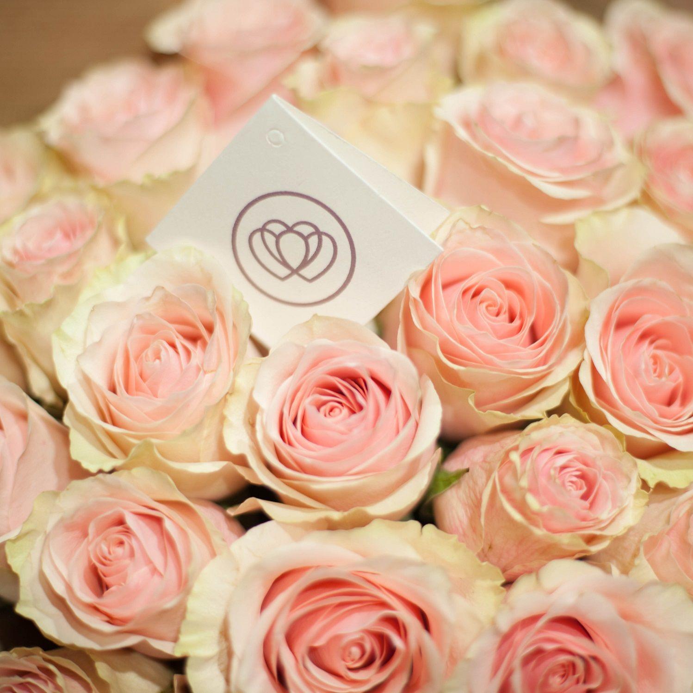 Нежно-розовые розы Pink Mondial 40 см опт фото