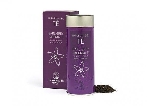 Элитный чай черный Эрл Грей Империал ж/б 90 гр., Италия фото