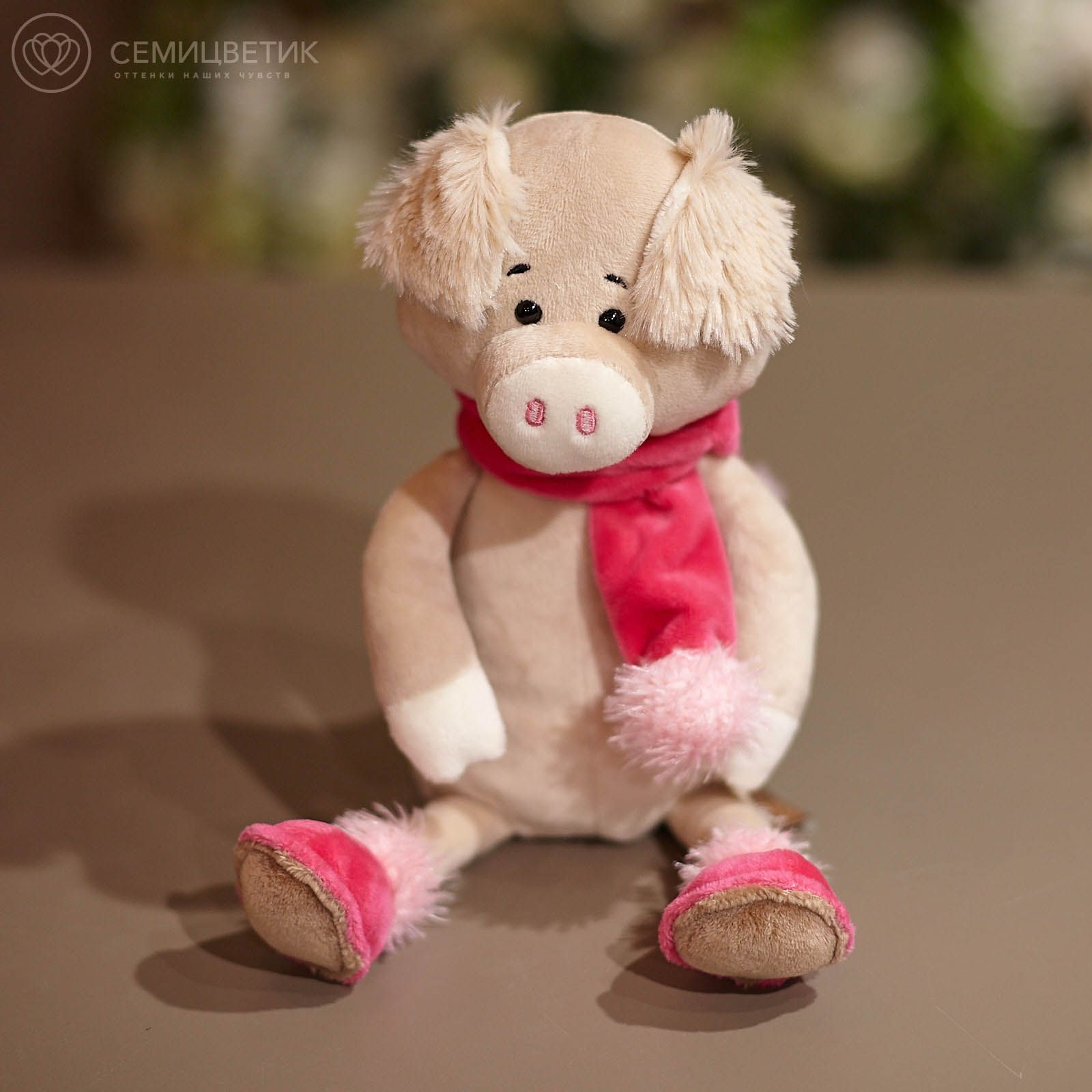 Свинка Вероника в Шарфе, 20 см фото