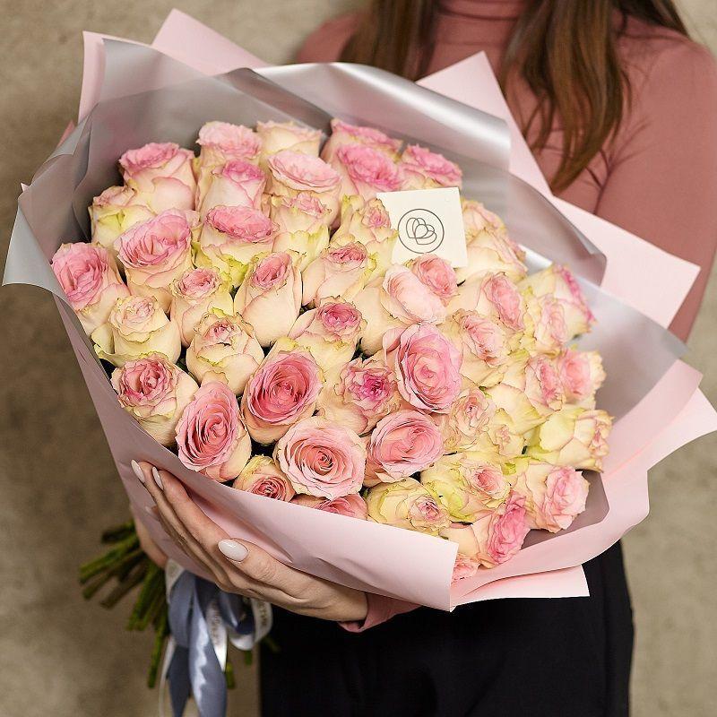 51 нежно-розовая роза 40 см Premium фото