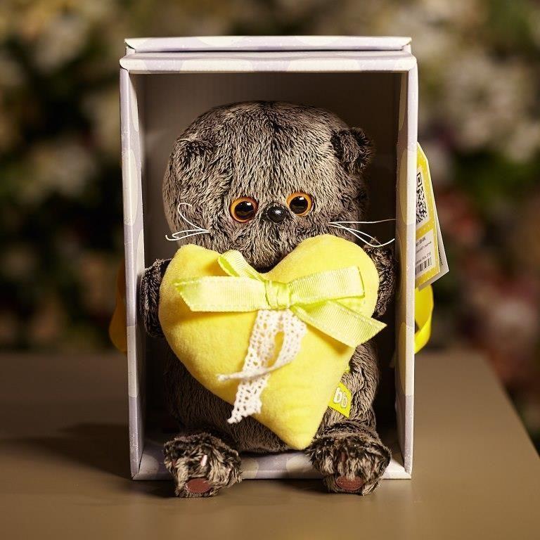 Басик Baby с сердечком (желтым) 18 см фото