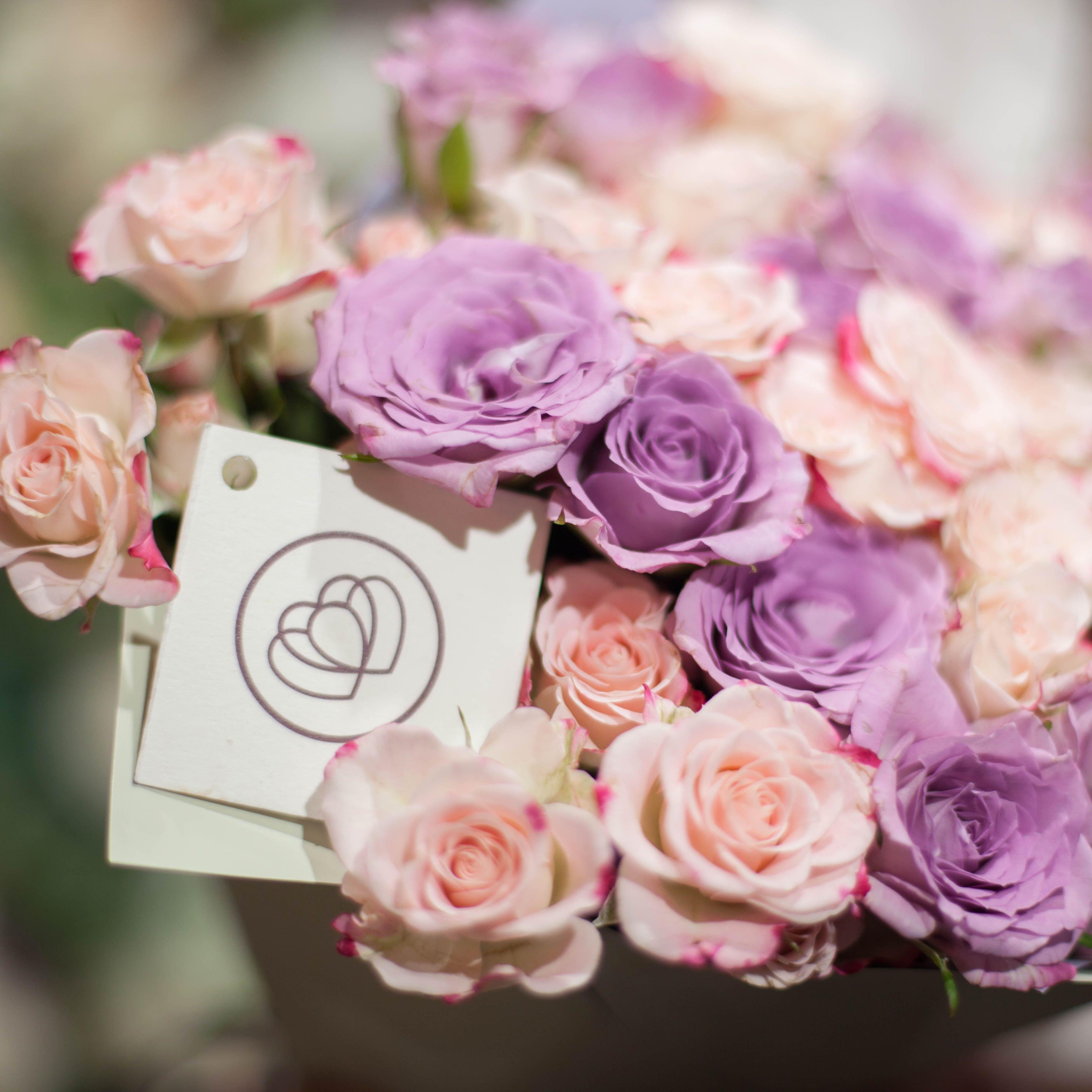19 кустовых роз 40 см фото